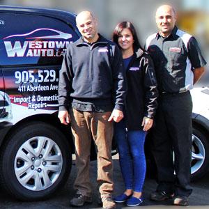 Westown Auto Hamilton Customer Staff Vince Leanne Peter